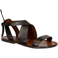 Pantofi Femei Sandale  Gianluca - L'artigiano Del Cuoio 570 D MORO CUOIO Testa di Moro