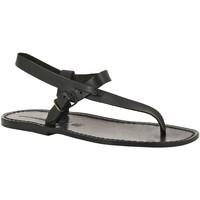 Pantofi Bărbați Sandale  Gianluca - L'artigiano Del Cuoio 592 U NERO CUOIO nero