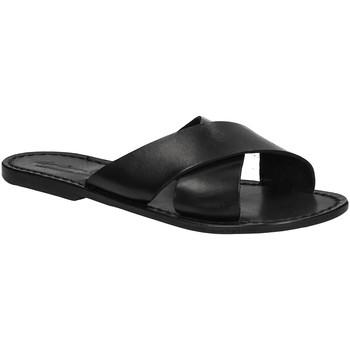 Pantofi Femei Papuci de vară Gianluca - L'artigiano Del Cuoio 560 D NERO CUOIO nero