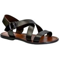 Pantofi Femei Sandale  Gianluca - L'artigiano Del Cuoio 508X D MORO CUOIO Testa di Moro