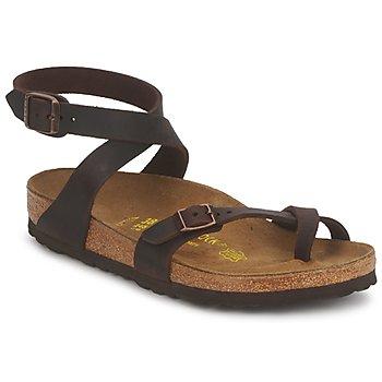 Pantofi Femei Sandale și Sandale cu talpă  joasă Birkenstock YARA PREMIUM Maro