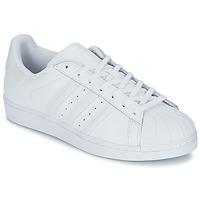 Încăltăminte Pantofi sport Casual adidas Originals SUPERSTAR FOUNDATIO Alb