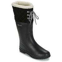 Pantofi Femei Cizme de ploaie Aigle POLKA GIBOULEE Negru