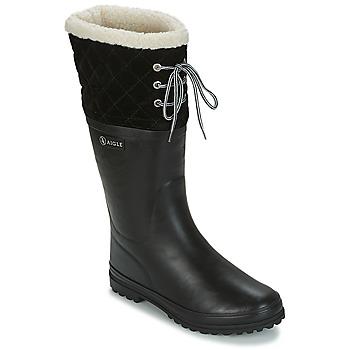 Pantofi Femei Cizme de cauciuc Aigle POLKA GIBOULEE Negru