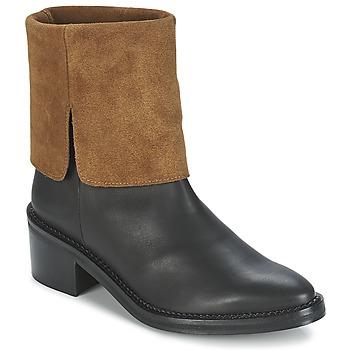 Pantofi Femei Ghete Miista KAMILA Negru / Maro
