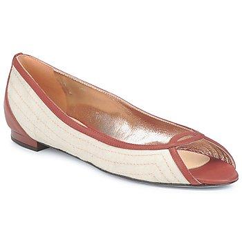 Pantofi Femei Balerin și Balerini cu curea Azzaro JOUR Bej / Camel