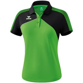Îmbracaminte Femei Tricou Polo mânecă scurtă Erima Polo femme  Premium One 2.0 vert/noir/blanc