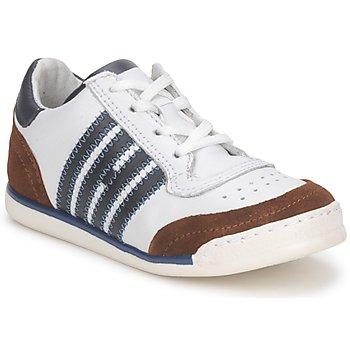 Încăltăminte Copii Pantofi sport Casual Hip ARCHIK Alb / Maro