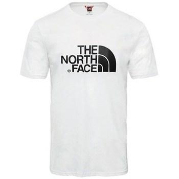 Îmbracaminte Bărbați Tricouri mânecă scurtă The North Face M SS Easy Tee Alb