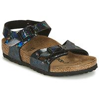 Pantofi Fete Sandale și Sandale cu talpă  joasă Birkenstock RIO Negru