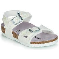 Pantofi Fete Sandale  Birkenstock RIO Alb