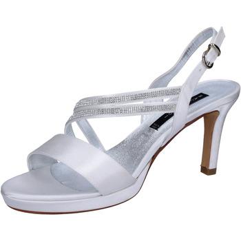 Pantofi Femei Sandale  Bacta De Toi sandali bianco raso strass BT845 Bianco