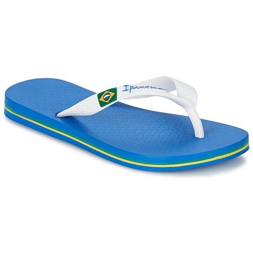 Pantofi Băieți  Flip-Flops Ipanema CLASSICA BRASIL II KIDS Albastru / Alb