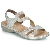 Încăltăminte Femei Sandale și Sandale cu talpă  joasă Rieker AMAZU Argintiu