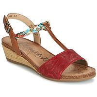 Încăltăminte Femei Sandale și Sandale cu talpă  joasă Remonte Dorndorf MIJUS Roșu