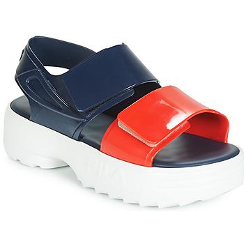 Pantofi Femei Sandale  Melissa SANDAL + FILA Albastru / Roșu / Alb