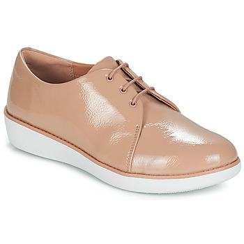 Pantofi Femei Pantofi Derby FitFlop DERBY CRINKLE PATENT Taupe