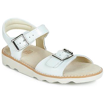 Pantofi Fete Sandale și Sandale cu talpă  joasă Clarks Crown Bloom K Alb