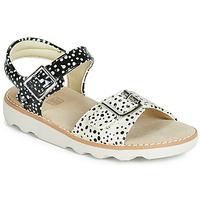 Pantofi Fete Sandale  Clarks Crown Bloom K Negru
