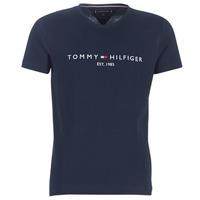 Îmbracaminte Bărbați Tricouri mânecă scurtă Tommy Hilfiger TOMMY FLAG HILFIGER TEE Bleumarin
