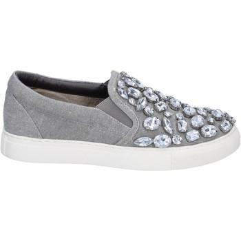 Pantofi Femei Pantofi Slip on Sara Lopez slip on grigio tela pietre BT992 Grigio