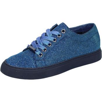 Pantofi Femei Pantofi sport Casual Sara Lopez sneakers blu tessuto BT995 Blu
