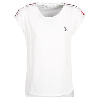 Îmbracaminte Femei Tricouri mânecă scurtă U.S Polo Assn. JEWELL TEE SS Alb