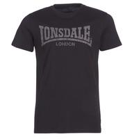 Îmbracaminte Bărbați Tricouri mânecă scurtă Lonsdale LOGO KAI Negru