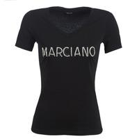Îmbracaminte Femei Tricouri mânecă scurtă Marciano LOGO PATCH CRYSTAL Negru
