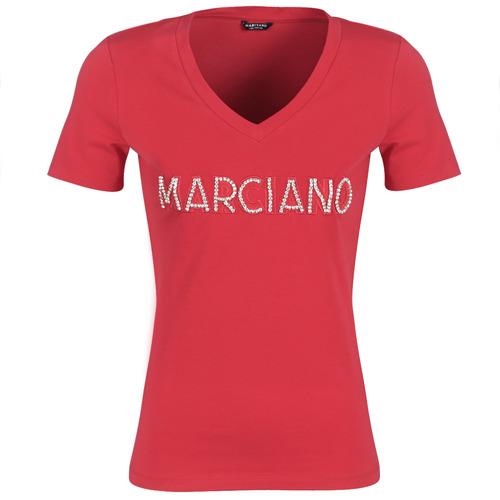 Îmbracaminte Femei Tricouri mânecă scurtă Marciano LOGO PATCH CRYSTAL Roșu