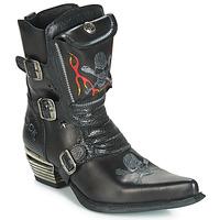 Pantofi Bărbați Cizme casual New Rock M-WST024-S3 Negru