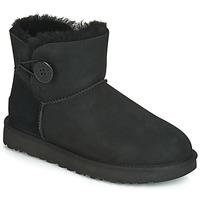 Pantofi Femei Ghete UGG MINI BAILEY BUTTON II Negru