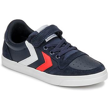 Pantofi Copii Pantofi sport Casual Hummel SLIMMER STADIL LEATHER LOW JR Albastru