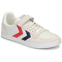 Pantofi Copii Pantofi sport Casual Hummel SLIMMER STADIL LEATHER LOW JR Alb