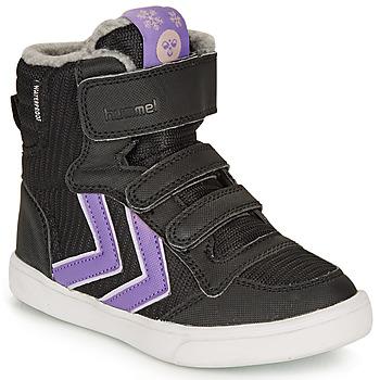 Pantofi Fete Pantofi sport stil gheata Hummel STADIL POLY BOOT MID JR Negru