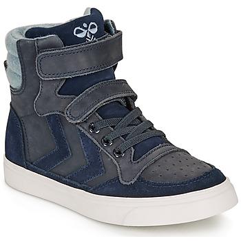 Pantofi Copii Pantofi sport stil gheata Hummel STADIL WINTER HIGH JR Albastru
