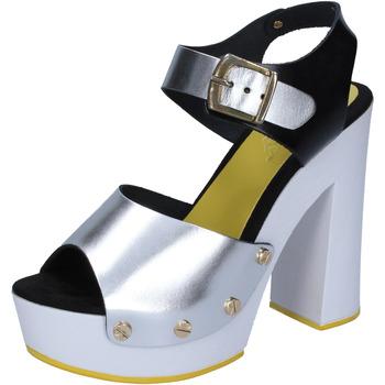 Pantofi Femei Pantofi cu toc Suky Brand sandali argento nero pelle BS16 Argento