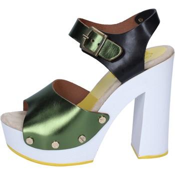 Pantofi Femei Pantofi cu toc Suky Brand sandali verde nero pelle BS18 Verde