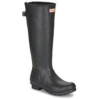 Pantofi Femei Cizme de cauciuc Hunter ORIGINAL BACK ADJUSTABLE Negru