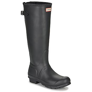 Pantofi Femei Cizme de ploaie Hunter ORIGINAL BACK ADJUSTABLE Negru