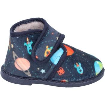 Pantofi Băieți Papuci de casă Blaike pantofole blu tessuto BS50 Blu