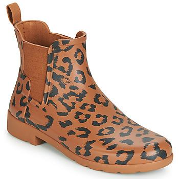 Pantofi Femei Cizme de ploaie Hunter ORG REFINED CHELSEA HYBRD PRNT Leopard