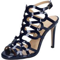 Pantofi Femei Sandale  Olga Rubini sandali blu vernice BS91 Blu