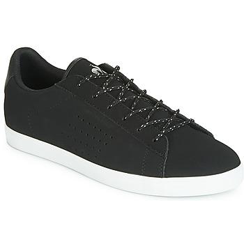 Pantofi Femei Pantofi sport Casual Le Coq Sportif AGATE NUBUCK Negru / Argintiu