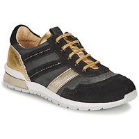Pantofi Fete Pantofi sport Casual Catimini CAMELINE Negru / Auriu