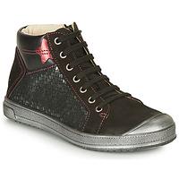 Pantofi Fete Pantofi sport stil gheata GBB ORENGETTE Negru / Argintiu