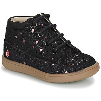Pantofi Fete Ghete GBB NINON Negru / Roz