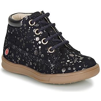 Pantofi Fete Ghete GBB NINON Albastru / Argintiu