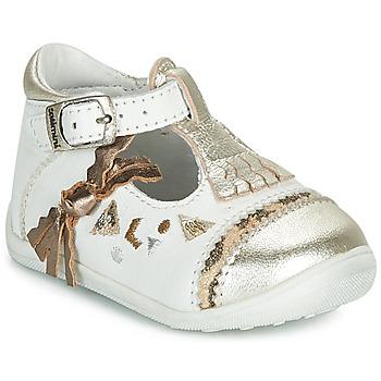 Pantofi Fete Balerin și Balerini cu curea Catimini CANETTE Alb