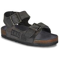 Pantofi Băieți Sandale și Sandale cu talpă  joasă Ikks CURTIS Negru